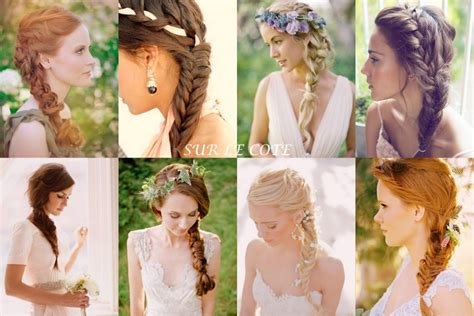 coiffure mariage tresse un dos tresse dans les baskets de la mariée