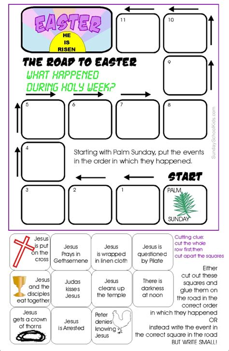 palm sunday activities for weekend links how to 442 | road to easter game2smaller