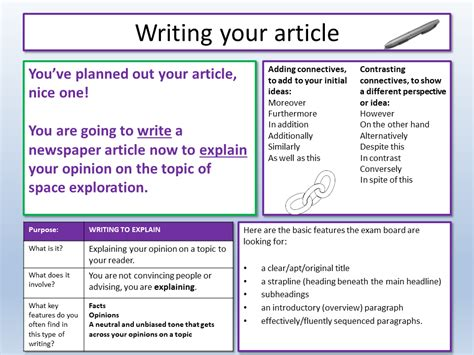 Ask questions about your assignment. AQA English Language Paper 2 Question 5   EC Resources