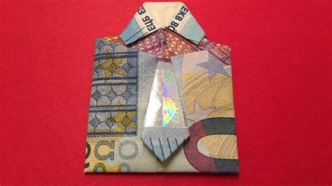 geldscheine falten geld falten origami diy doovi
