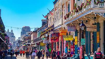 Orleans Bourbon Street French Quarter Beads Downtown