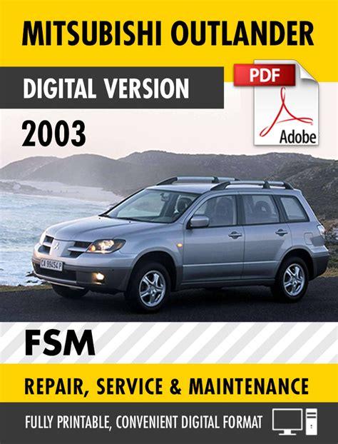 Mitsubishi Outlander Manual by Mitsubishi Outlander 2008 Service Manual