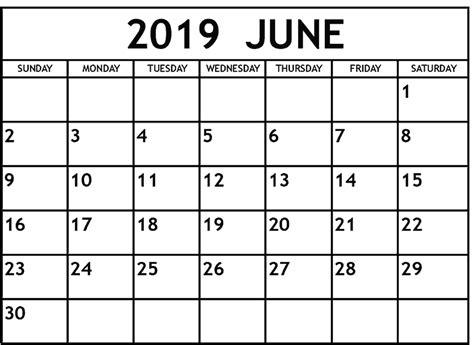 calendar june  printable template excel magic