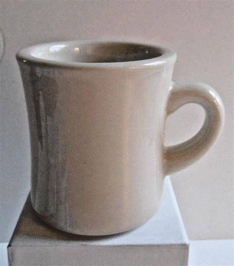 Thick grip glossy ceramic diner mug (12 oz.) Pair of Delco Atlantic Heavy Restaurant Coffee Mugs #DelcoAtlantic | Vintage restaurant, Mugs ...