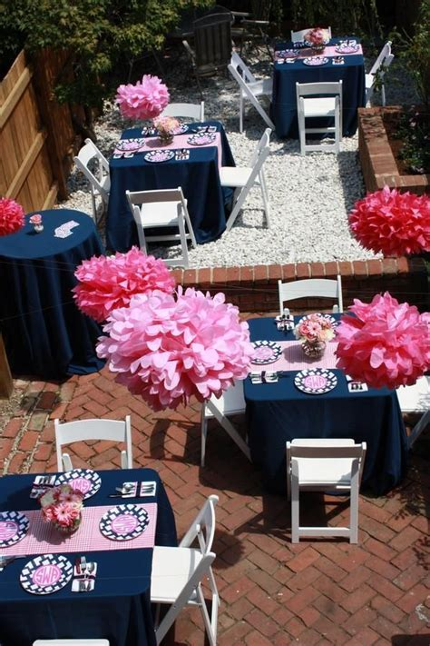 wow navy  pink colors mariage en  decorations