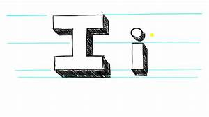How to Draw 3d Letters I - Uppercase I and Lowercase i in ...