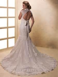 Wedding Dresses with Lace Keyhole Back