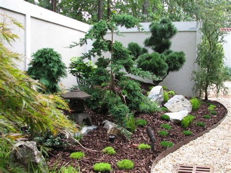 asian garden plants small scale japanese garden arcoiris design