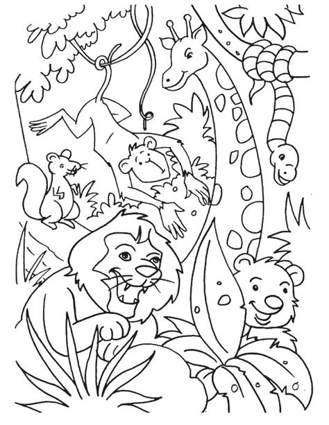 jungle animals coloring pages jungle coloring pages best coloring pages for