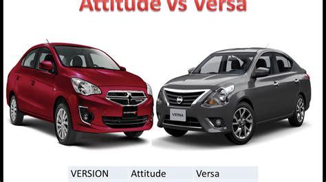 Dodge Attitude 2017 SXT VS Nissan Versa - YouTube