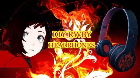 ruby rose headphones diy rwby headphones ruby rose youtube