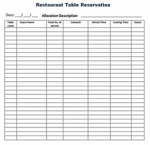 Restaurant Reservation Template
