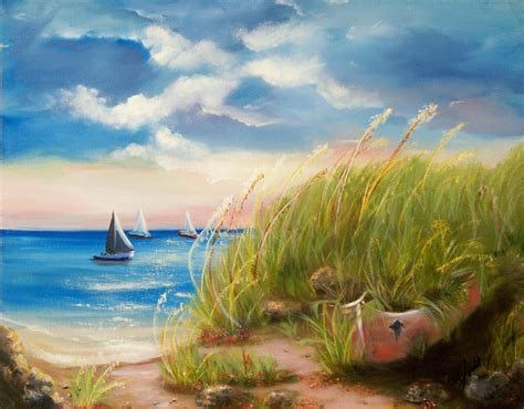 Seaside Memories Painting by Joni McPherson