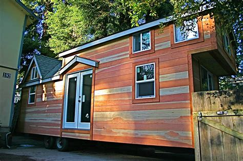 house trailer molecule builds another spacious tiny home on a trailer