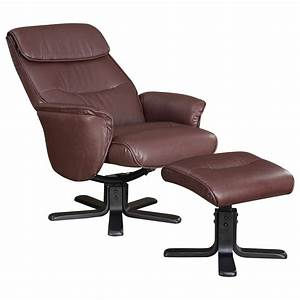 Recliners, With, Ottomans, Leatherette, Chair, And, Ottoman