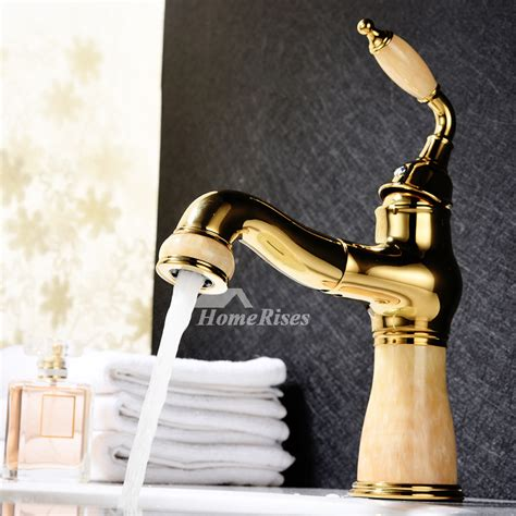 best bathroom faucets single handle polished brass gold