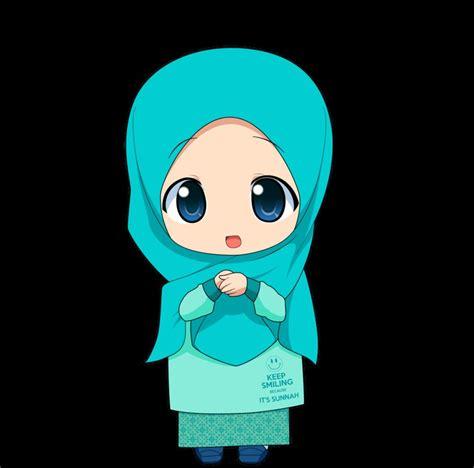 gambar wallpaper animasi kartun  gambar kartun muslimah