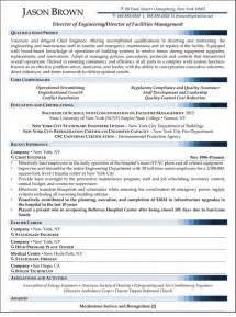 resume template for facility manager director of facilities management resume sle resume