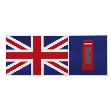 bureau drapeau anglais plateau de bureau réversible en bois bleu drapeau anglais