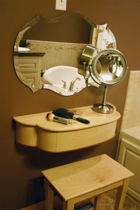handmade wall mounted s makeup vanity with - Womens Makeup Vanity