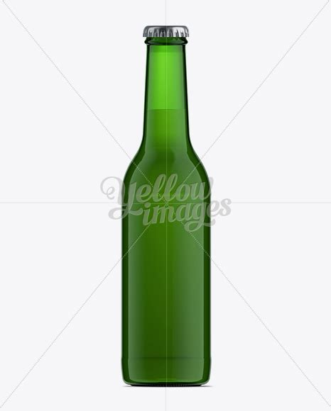 Transparent beer bottle mockup / 330 ml. 330ml Green Glass Ale Bottle Mockup in Bottle Mockups on ...