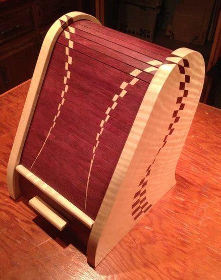 purpleheart tambour  curly maple box  jim sellers