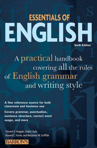 essentials  english  practical handbook covering