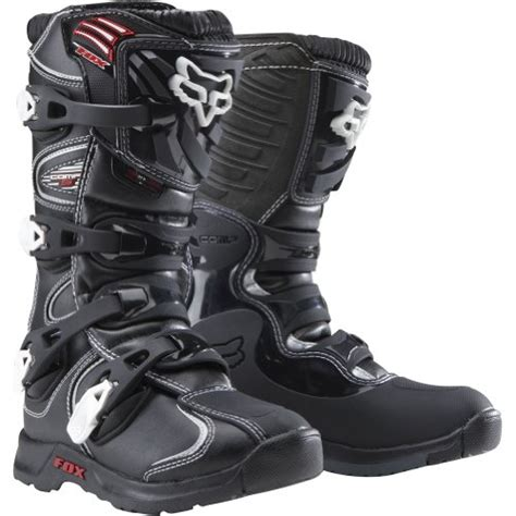 fox youth motocross boots fox racing youth comp 5 boots 1 us youth black