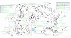 2007 Subaru Legacy Dashboard Air Vent