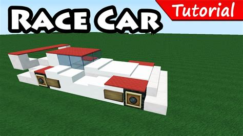 minecraft sports car how to make race sport car minecraft vehicle tutorial