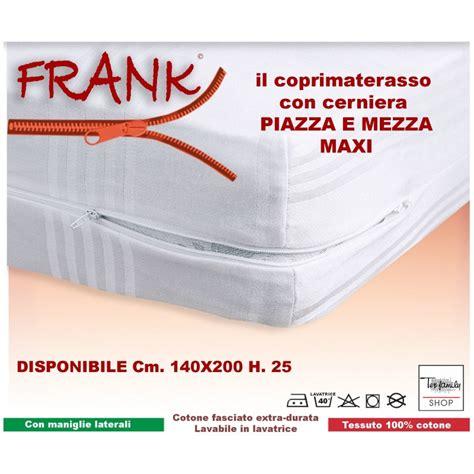 coprimaterasso intero frank  cerniera zip misura francese cm  piazza   ebay