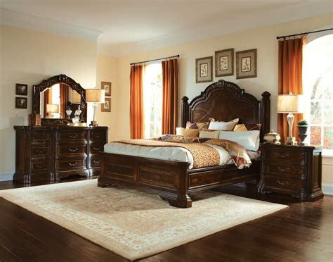 Traditional Furniture by Valencia Carved Wood Traditional Bedroom Furniture Set 209000