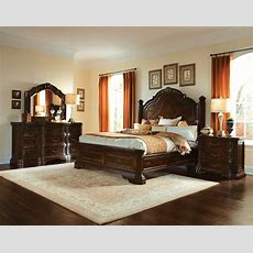 Valencia Carved Wood Traditional Bedroom Furniture Set 209000