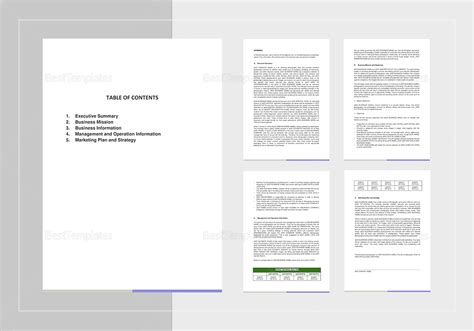 Photography Business Plan Template In Word, Google Docs