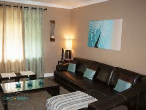 dark teal and brown living room info home and furniture