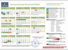 CALENDARIO ESCOLAR 20172018 CEIP