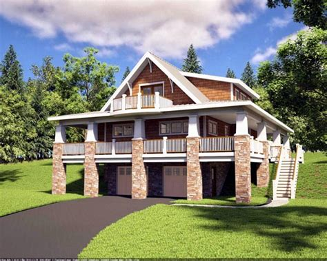 hillside house plans bungalow craftsman hillside home plan family home plans