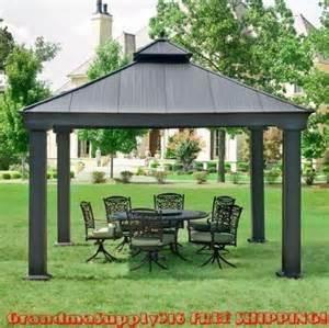 new outdoor metal hardtop gazebo 12 x 12 x 12 canopy
