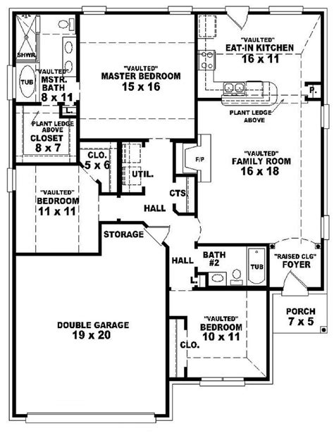 3 bedroom house plans one 3 bedroom 2 bath 1 house plans 3 bedroom 2 bath