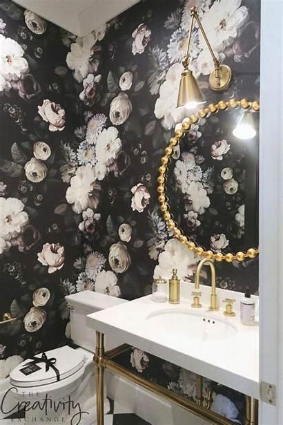 Powder Bathroom Floral Trends Masculine Parade Homes