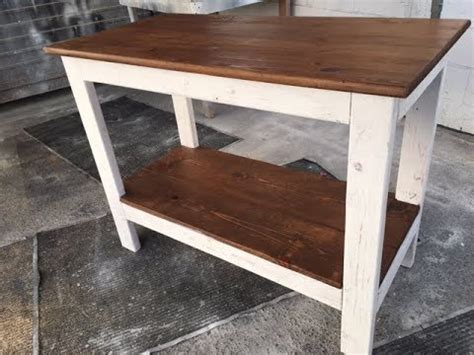 diy  rustic wood kitchen island project fast  easy