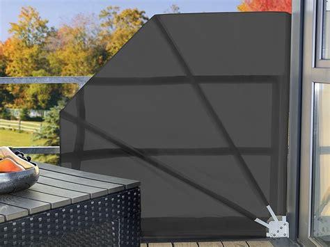 Brise-vue ru00e9tractable pour balcon et terrasses 140cm gris/beige | Pearl.fr