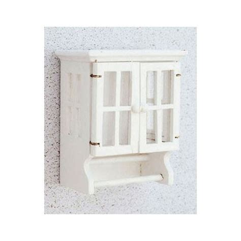 White Bathroom Towel Cabinet Dollhouse White Bathroom Towel Cabinet Miniature