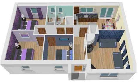 contoh denah rumah minimalis  kamar tidur    lantai
