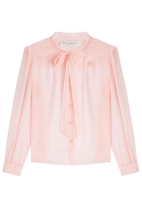 sheer chiffon blouse philosophy di lorenzo serafini sheer chiffon blouse