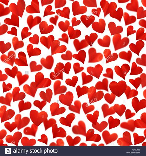 Background With Red Hearts In 3d, Valentine Card, Birthday