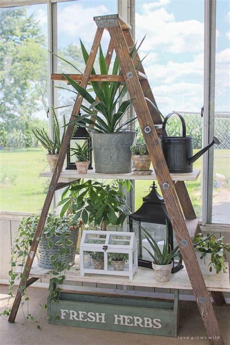 examples  creative diy ladder shelves