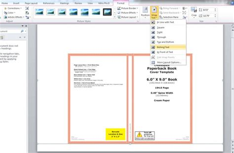 How To Create A Book Template In Word by How To Make A Print Book Cover In Microsoft Word For