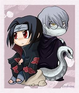 Itachi and Kabuto chibi by Evolvana on DeviantArt