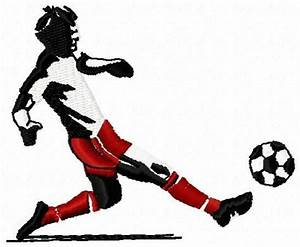 Hand Crafted Soccer Player Embroidery Design by Ice Purple ...